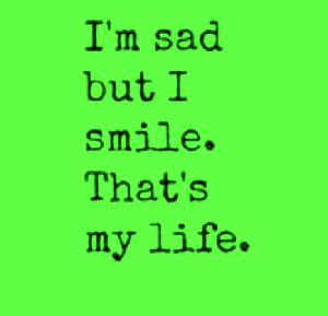 sad saying poster