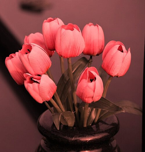 Decoration Colorful Vase Artificial Flowers
