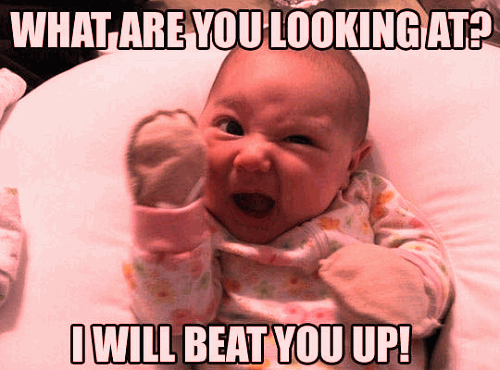 new picture of funny baby with message