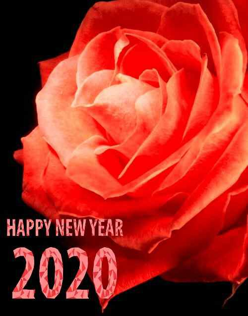 sweet flower with happy new year image