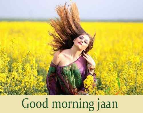 beautiful girl with good morning for fb