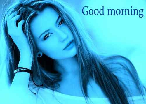 beautiufl girl with good morning image